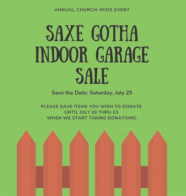 Saxe Gotha Indoor Garage Sale Cropped