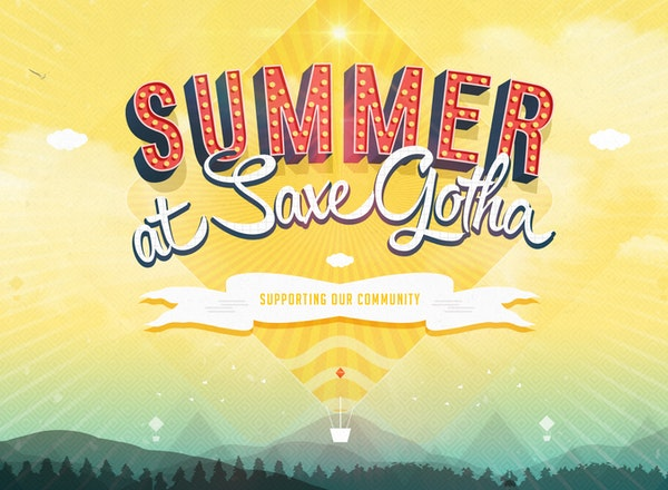 Summer At Saxe Gotha Graphic Cropped