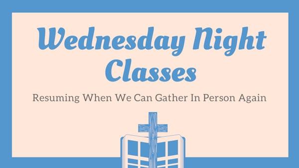 Wednesday Night Classes Revised 113 21