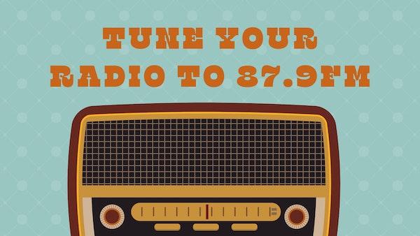 Aqua Blue Retro Radio Desktop Wallpaper