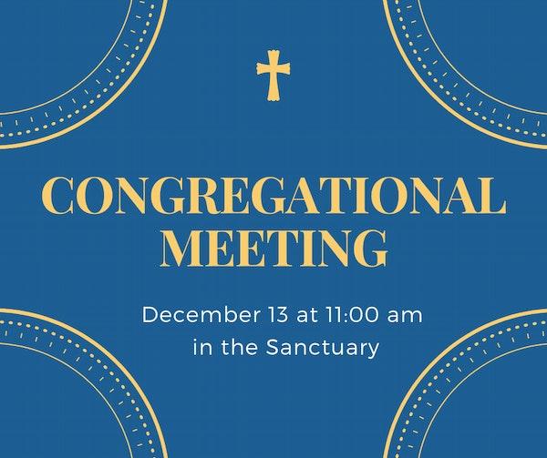 Congregational Meeting 2