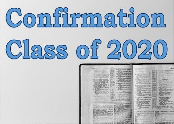 Confirmation Class 2020