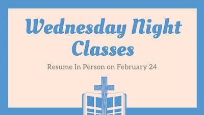 Wednesday Night Classes 224 21