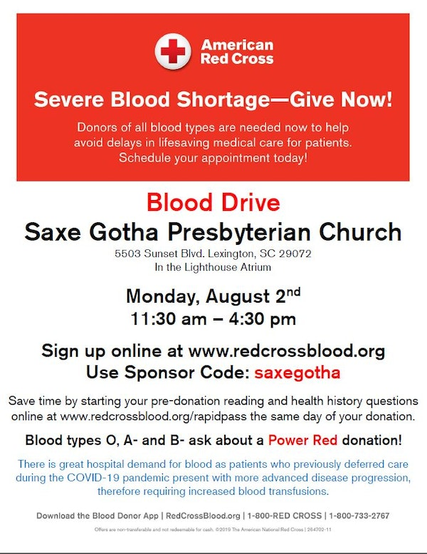 Blood Drive Poster 7 21